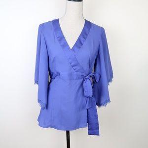 Nanette Lepore Endless Love Wrap Kimono Blouse 6